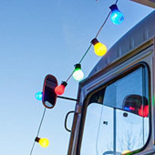 NOMA! Krāsainu LED lampiņu spuldzīšu virtene, 16 lampiņas, 5 metri