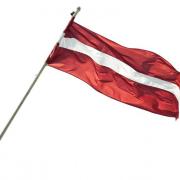 NOMA! Latvijas Valsts karogs, karogs ar kātu, 150 x 75 cm, īrēt karogu