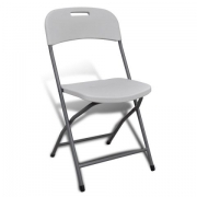 NOMA! 1 salokāms krēsls, balts krēsls pasākumiem UZ NOMU