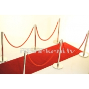NOMA! Sarkanā paklāja komplekts - paklājs 7 x 1,5 m, ar 10 stabiņiem