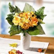 NOMA! Ziedu kompozīcija RUDENĪGAIS no mākslīgajiem ziediem, ziedu buķete uz galda