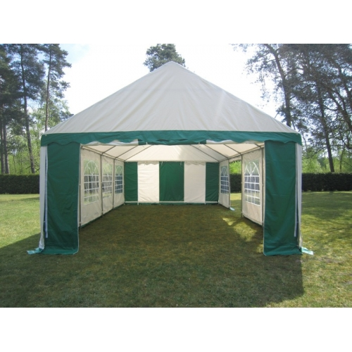 NOMA! Pasākumu telts, paviljons 5 x 8m, balti/zaļa - profi telts noma + montāža