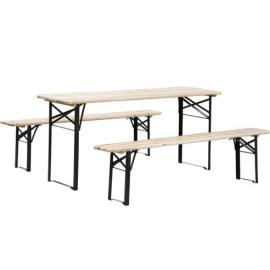 NOMA! Alus dārza galds ar diviem soliem UZ NOMU