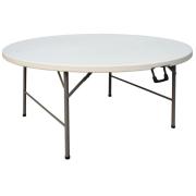 NOMA! 1 banketu apaļais galds, viegli transportējams saliekams GALDS 153 cm UZ NOMU