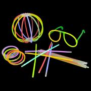 Glow sticks, daudzkrāsaini gaismas kociņi, 20 cm, 100 gab.