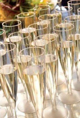 Šampanieša glāzes, plastmasas, vienreizlietojamās, 16 cm, 115 ml, 20 gab.