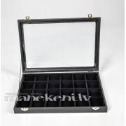Kastīte ar aizveramu vāku juvelierizstrādājumiem, bižutērijai, kolekcijai BOX724