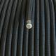 Vintage retro kabelis, ar austu teksilmateriāla izolāciju, 3-dzīslu kabelis 3x0,75, melns, tek.metrs