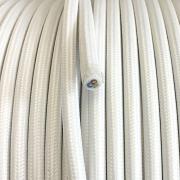 Vintage retro kabelis, ar austu teksilmateriāla izolāciju, 3-dzīslu kabelis 3x0,75, balts, tek.metrs