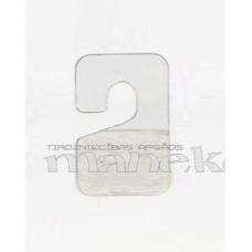 Pašlīmējošs PVC plastikāta stiprinājums precei, 200 gab.