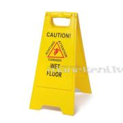 """""""Slidena grīda"""" - brīdinājuma trīsstūris, brīdinājuma zīme"""