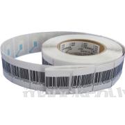 RF drošības etiķetes uzlīmes 3 x 4 cm, ar EAN koda apdruku, 1000 gab.
