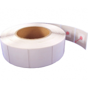 RF drošības etiķetes uzlīmes 4 x 4 cm, baltas, 1000 gab.