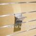 Kronšteins 8 mm stikla plauktam eirosienai (Eiro siena, Spacewall, Slatwall)