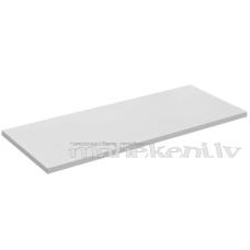 Lamināta plaukts, plaukta elements, balts, 645 x 195 mm (eiro siena, eirosiena, neofix, joker, u.c. plauktu sistēmām)