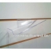 Organiskā stikla plauktiņš apaviem eirosienai, kreisais  (Eiro siena, Spacewall, Slatwall)