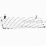 Hromēts metāla stiepļu sieta plaukts Eirosienai 90 cm (Eiro siena, Spacewall, Slatwall)
