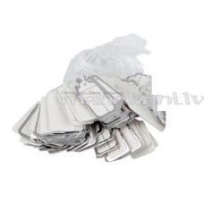 Etiķetes, cenu zīmes, juvelieru izstrādājumiem / 26x13mm / 1000 gab. / Silver, ar aukliņām