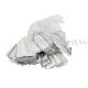 Etiķetes, cenu zīmes, juvelieru izstrādājumiem / 26x13mm / 100 gab. / Silver, ar aukliņām