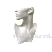 Keramikas galva juvelierizstrādājumu prezentēšanai, balta