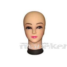 Dekoratīva sievietes manekena galva ar uzzīmētu seju DSPH-CLRW-51