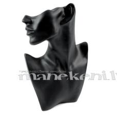 Keramikas galva juvelierizstrādājumu eksponēšanai, melna