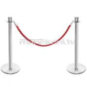 Dekoratīva klientu rindu barjera VIP EXCLUSIVE, drošības nožogojums ar norobežojošu virvi (komplekts)