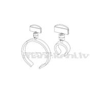 Cenu zīmju turētājs ar apaļu satvērēju - desām un citiem apaļiem priekšmetiem, 80 mm