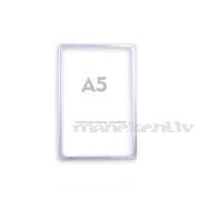 Plastikāta rāmis A5, informācijas turētājs, caurspīdīgs orgstikla rāmītis