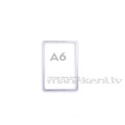 Plastikāta rāmis A6, informācijas turētājs, caurspīdīgs orgstikla rāmītis