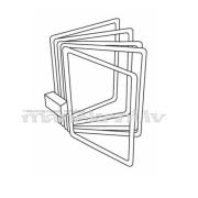 Sienas katalogs prospektu cenu lapu turētājs 8x A4 rāmji