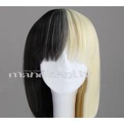 Ekstravaganta parūka blondi-melnā krāsā