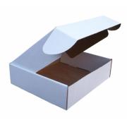 Salocāma kartona kaste, balta pasta sūtījumu kaste 155 x 125 x 65 mm
