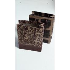 Dekoratīvi papīra maisiņi ar virves rokturiem 11(+5)x14cm 1 gab.