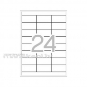 24 uzlīmju sagatave uz A4 loksnes, baltas uzlīmes